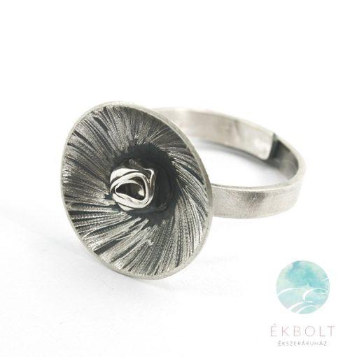 Felületkezelt ezüst gyűrű 69633