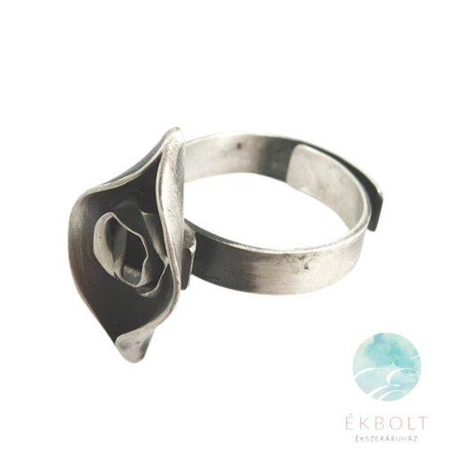 Felületkezelt ezüst gyűrű 69469