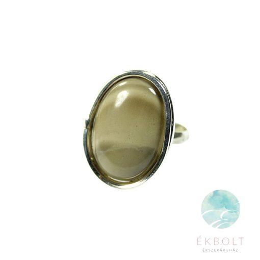 Ezüst gyűrű csíkos szilikát kővel