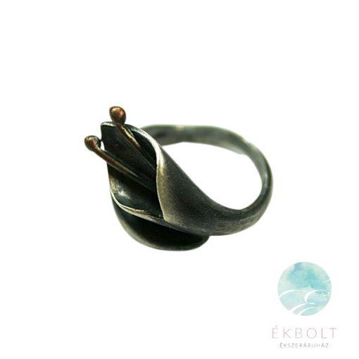 Felületkezelt ezüst gyűrű 69710
