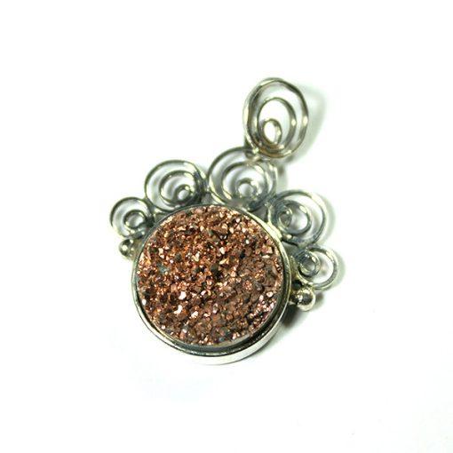 Ezüst medál achát kővel 70537