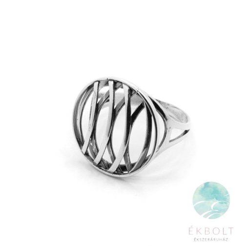 Felületkezelt ezüst gyűrű 71617
