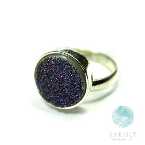 Ezüst gyűrű achát kővel 72038