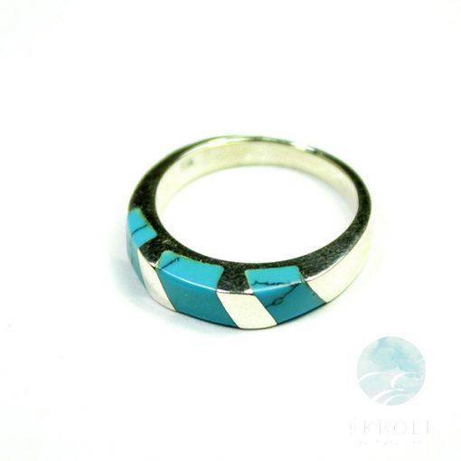 Ezüst gyűrű türkiz kővel 72215