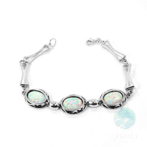 Ezüst karkötő opál kővel 75065