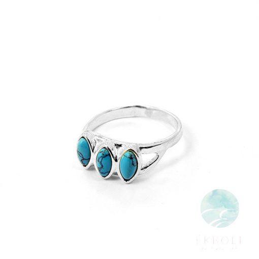 Ezüst gyűrű türkiz kővel 75922