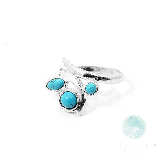 Ezüst gyűrű türkiz kővel 75925