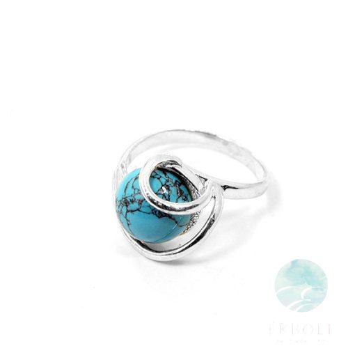 Ezüst gyűrű tükiz kővel 75933