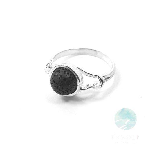 Ezüst gyűrű lávakővel 76086