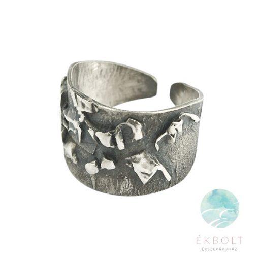 Felületkezelt ezüst gyűrű 76871